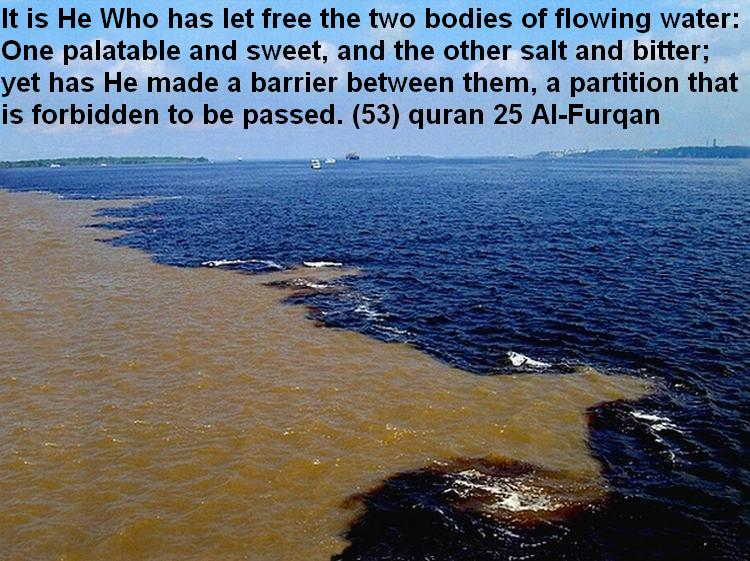 two rivers meet quran